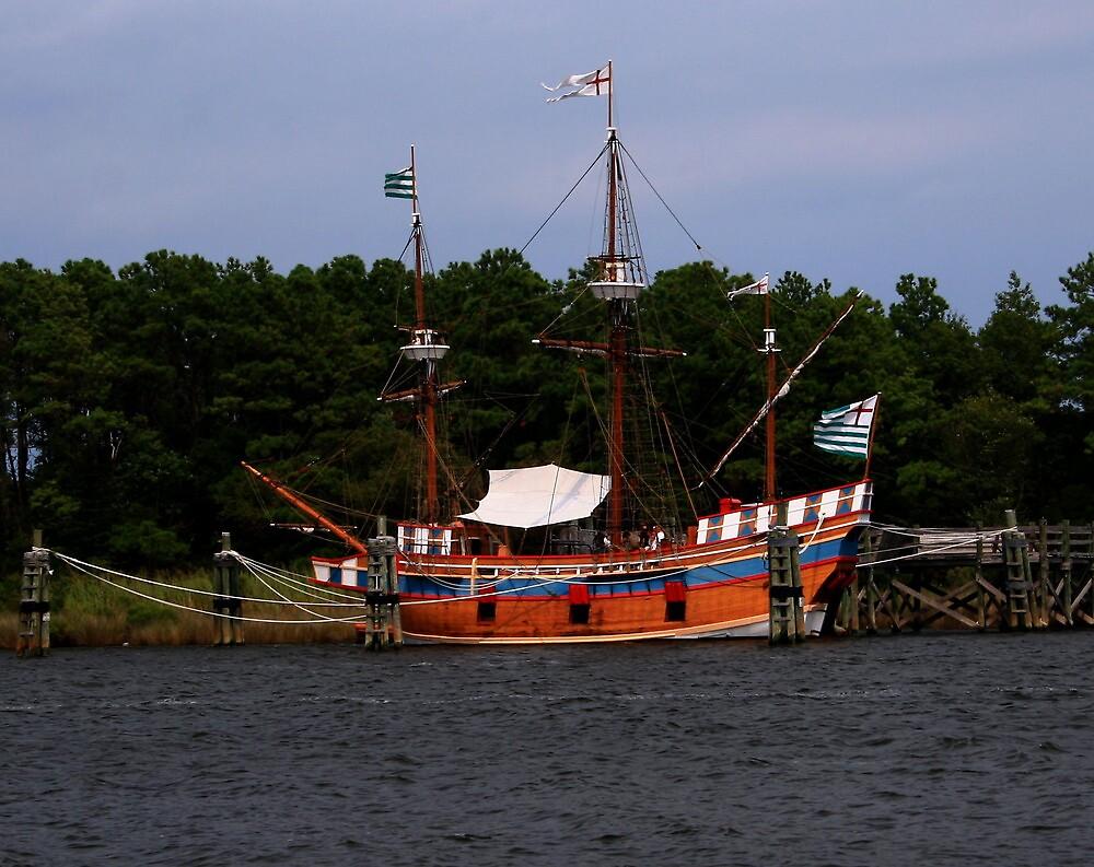 Docked Ship by Karen Harrison