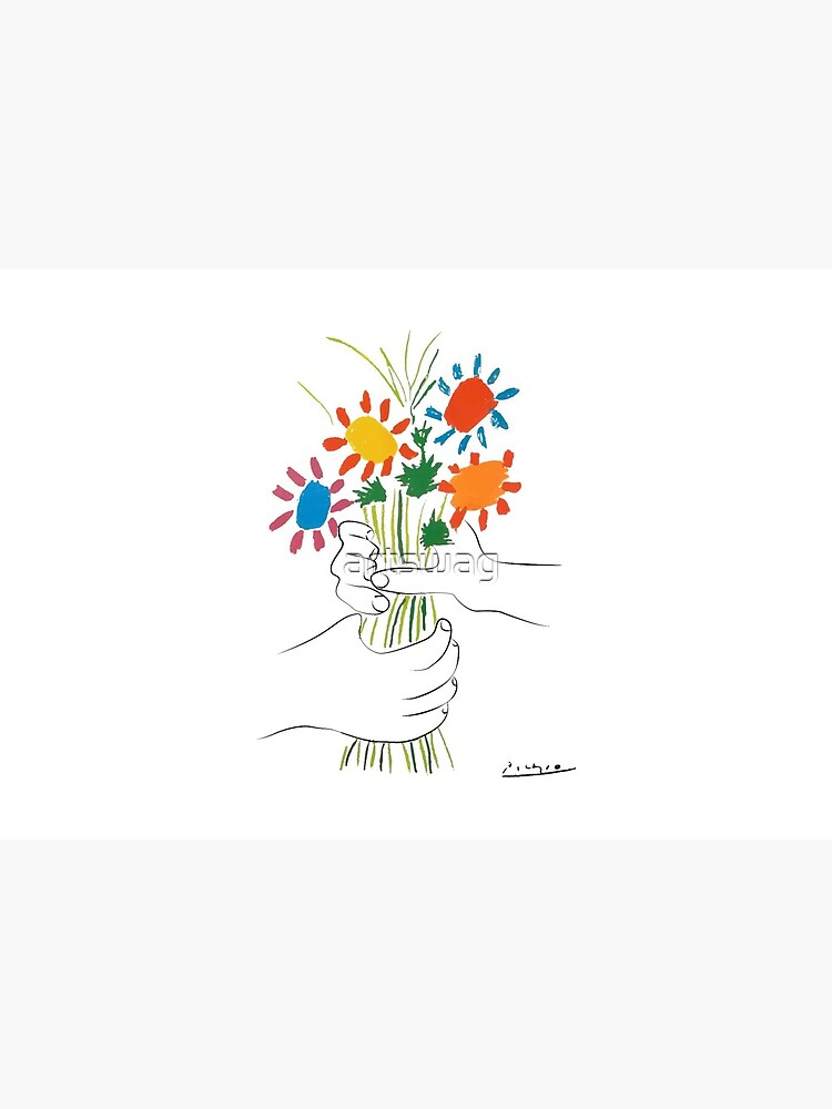 Pablo Picasso - Bouquet of Peace - Signature by artswag