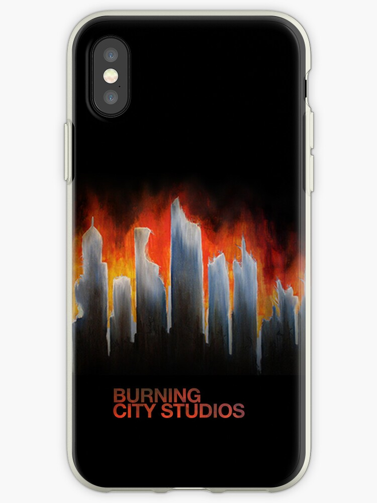 """""""Burning City"""" Painting iPhone Case (Branded, NOT for iPod Touch) by BurningCity"""