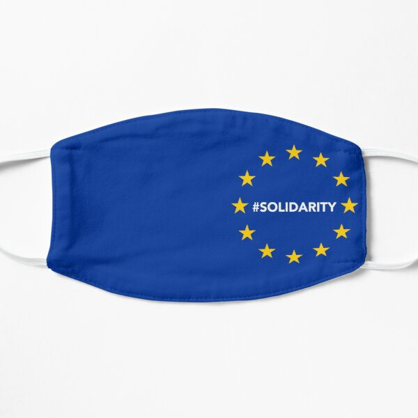 European Union (EU) #solidarity - Souvenir & Travel Gift (High Resolution) Flat Mask