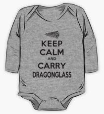 Keep Calm: Dragonglass (Black) One Piece - Long Sleeve