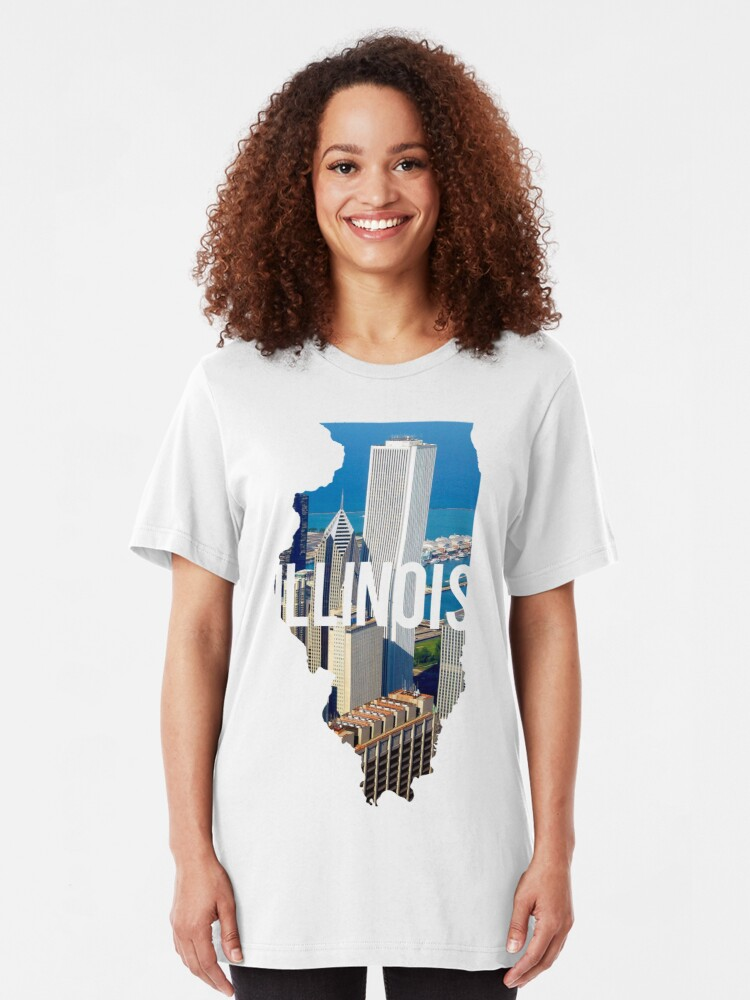 Alternate view of Illinois - Chicago Slim Fit T-Shirt