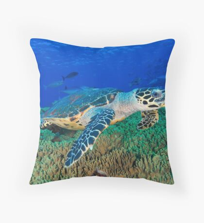 Hawksbill Turtle Throw Pillow