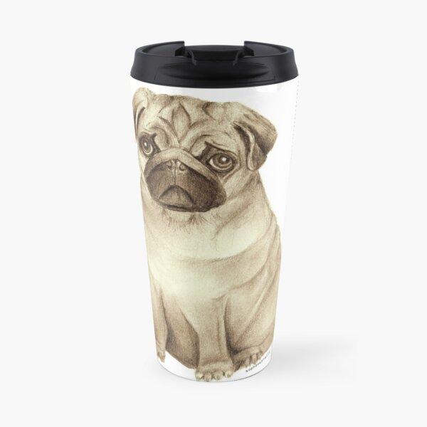 Pug Drawing Travel Mug