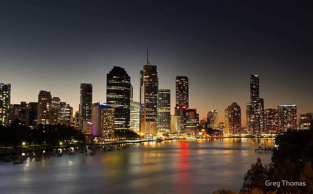 Brisbane @ Dusk by Greg Thomas