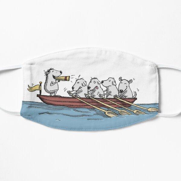 Ruderboot mit Hunden Flache Maske
