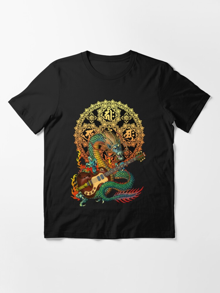 Alternate view of Dragon guitar  Essential T-Shirt