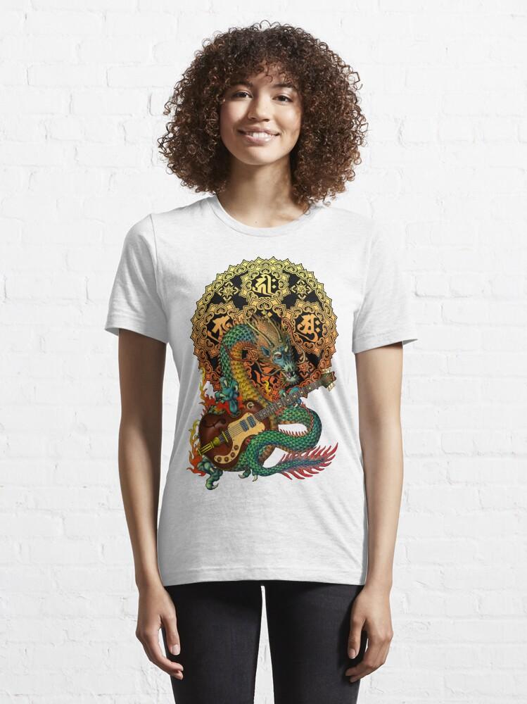Alternate view of Dragon guitar  Essential T-Shirt