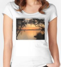 Myall Sunset Tee Women's Fitted Scoop T-Shirt