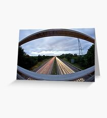 Dual Carriageway Greeting Card