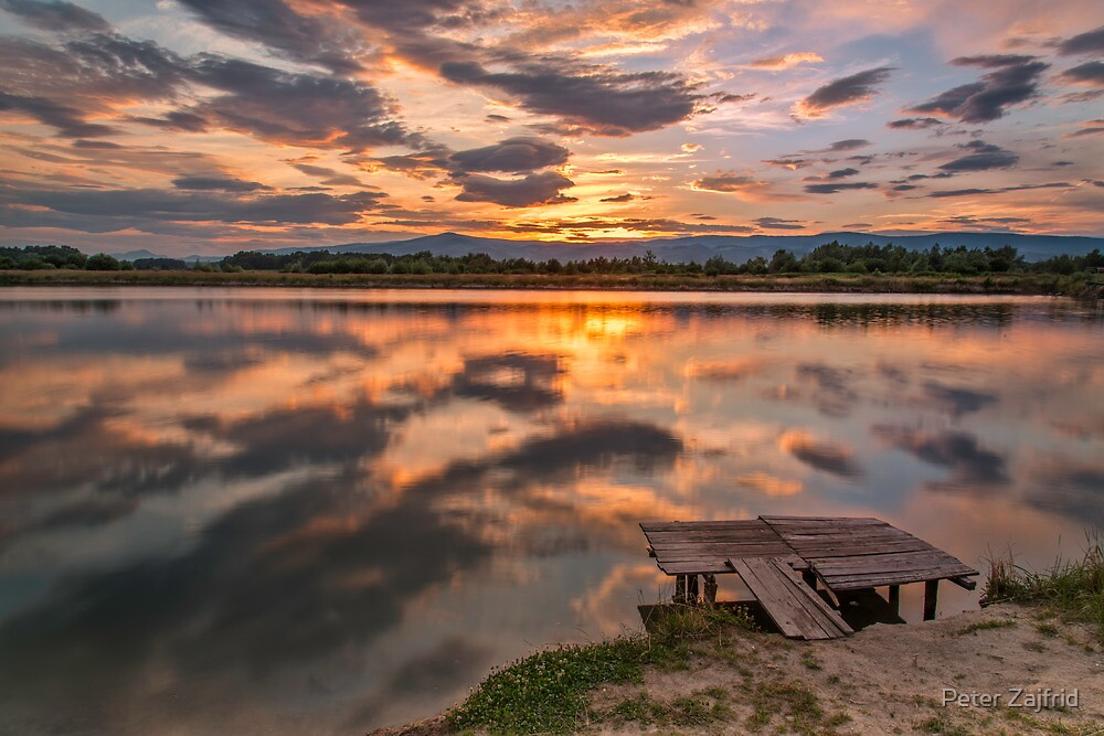 Summer on the lake by Peter Zajfrid