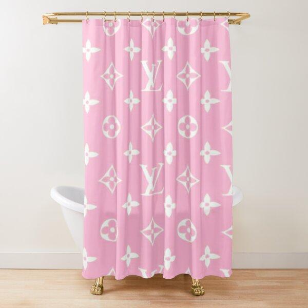 Louis V Bonbon rose Shower Curtain