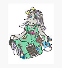 Voodoo Girl Photographic Print