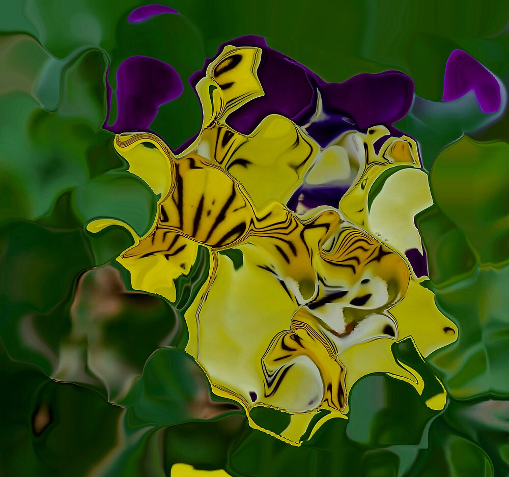 Pansy Abstract by Karen Harrison