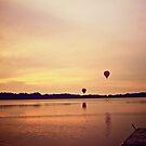 Balloon sunset by LadyFi