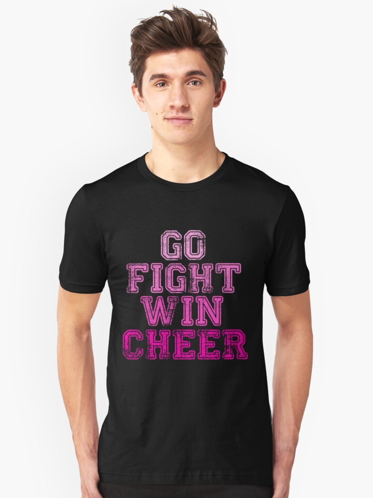 Go Fight Win...Cheer Unisex T-Shirt Front