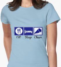 Eat, Sleep, Cheer Women's Fitted T-Shirt