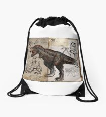 Ark T-Rex Drawstring Bag