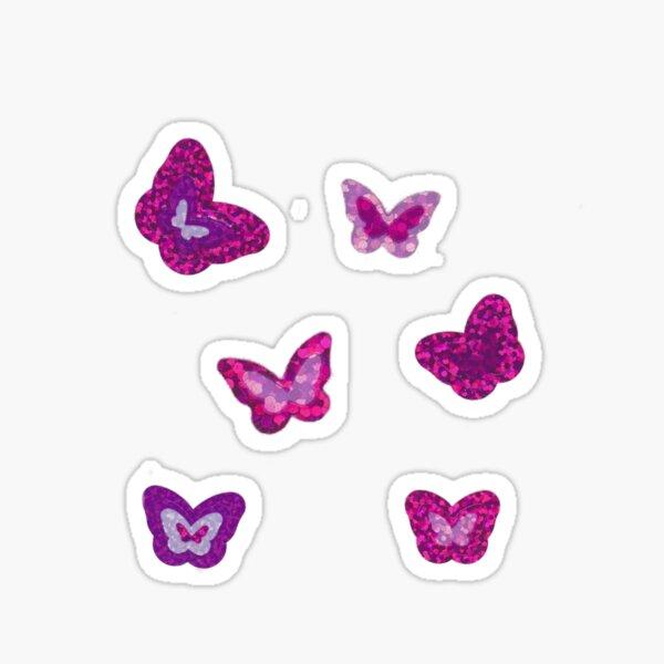 glittering pink butterfly set Sticker