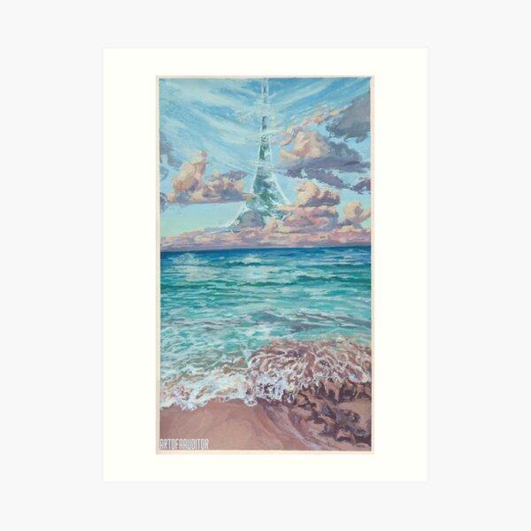 HALO - Shoreline Gouache Painting 2 Art Print