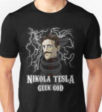 Nikola Tesla: Geek God Unisex T-Shirt