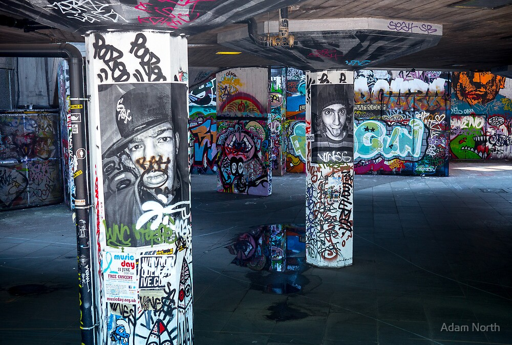 Skater Park - South Bank, London by Adam North