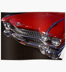 Red Cadillac Grill Poster