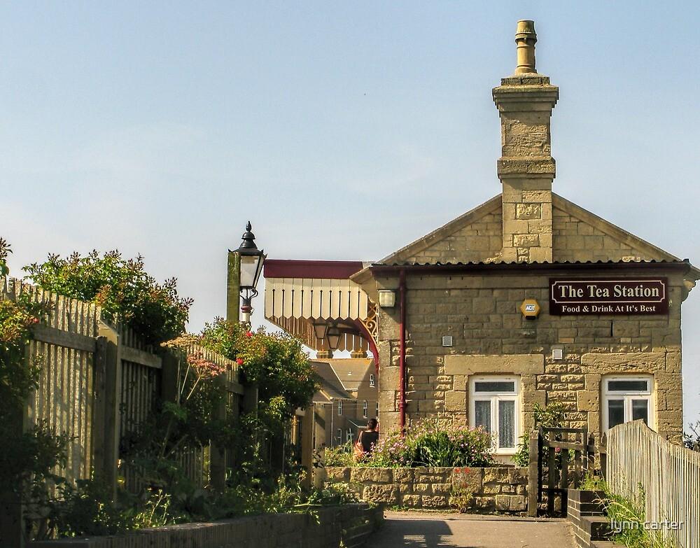 The Tea Station - West Bay, Bridport, Dorset UK by lynn carter