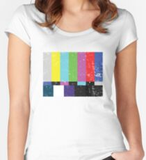 TV test Lines (Half t-shirt 02) Women's Fitted Scoop T-Shirt