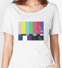 TV test Lines (Half t-shirt 02) Women's Relaxed Fit T-Shirt