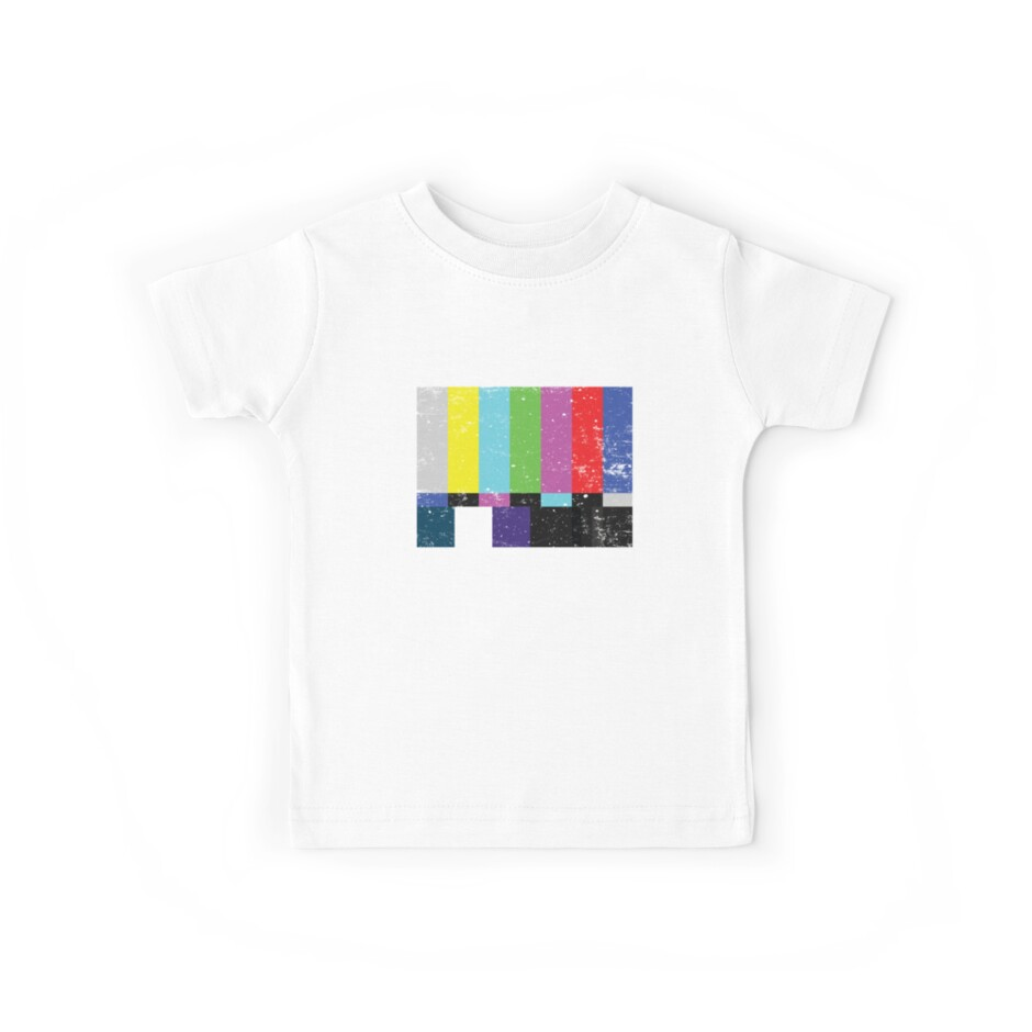TV test Lines (Half t-shirt 02) by Madkristin