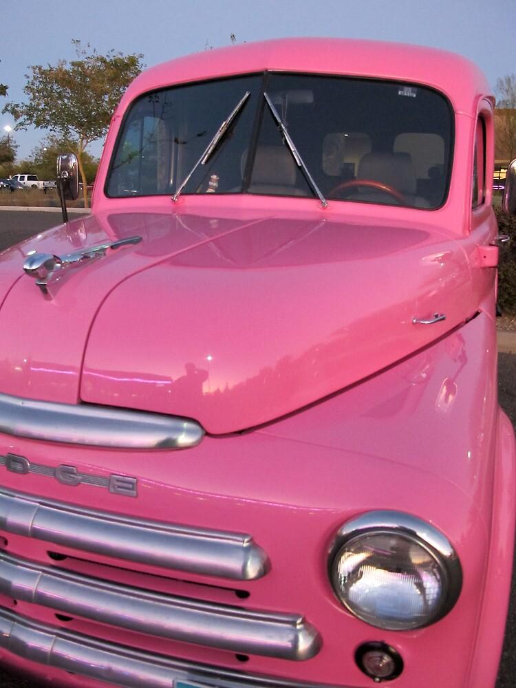 Pink Dodge Delivery Van by wayneyoungphoto
