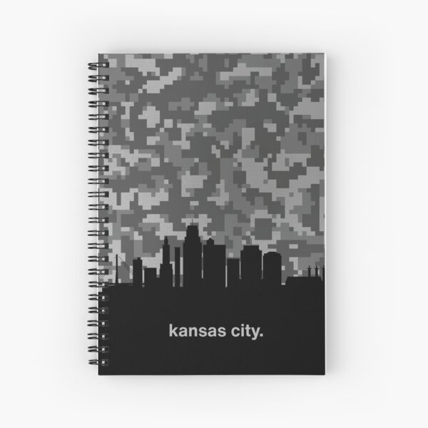 My heart beats for United States of America, Kansas City  Spiral Notebook
