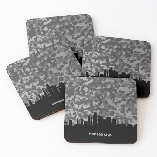 My heart beats for United States of America, Kansas City  Coasters (Set of 4)