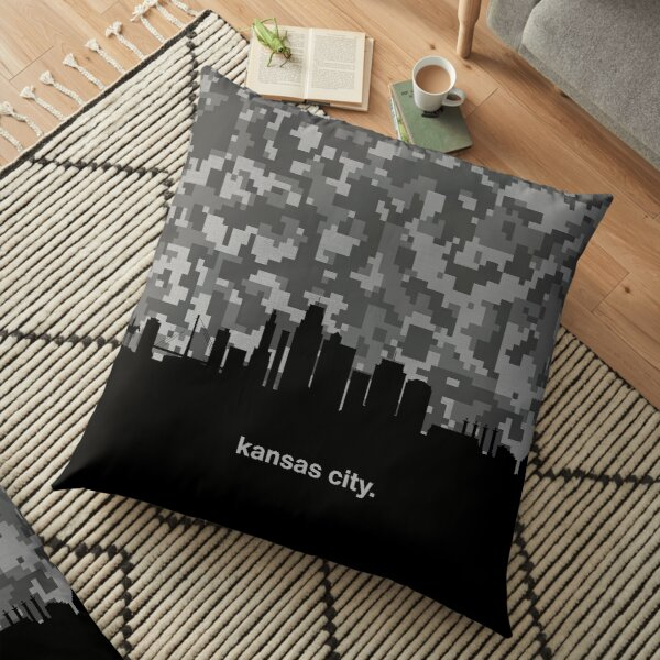 My heart beats for United States of America, Kansas City  Floor Pillow