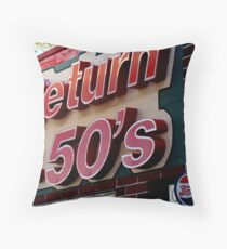 Back to the 50s Throw Pillow