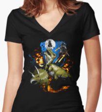 Extinction Women's Fitted V-Neck T-Shirt