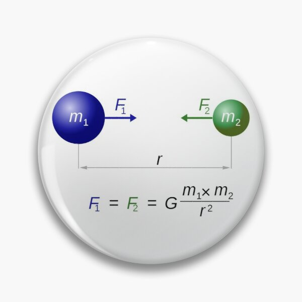 Formula, THE LAW OF GRAVITY Pin