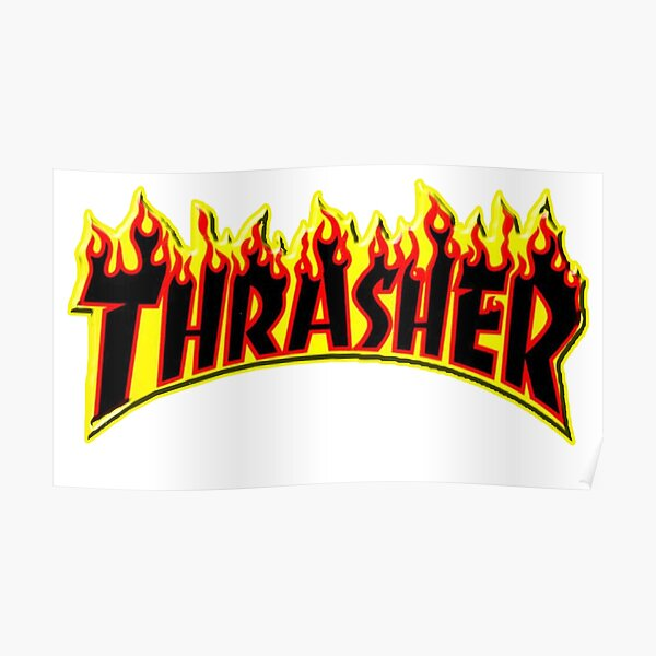 T-shirt à manches courtes Thrasher Flame Poster