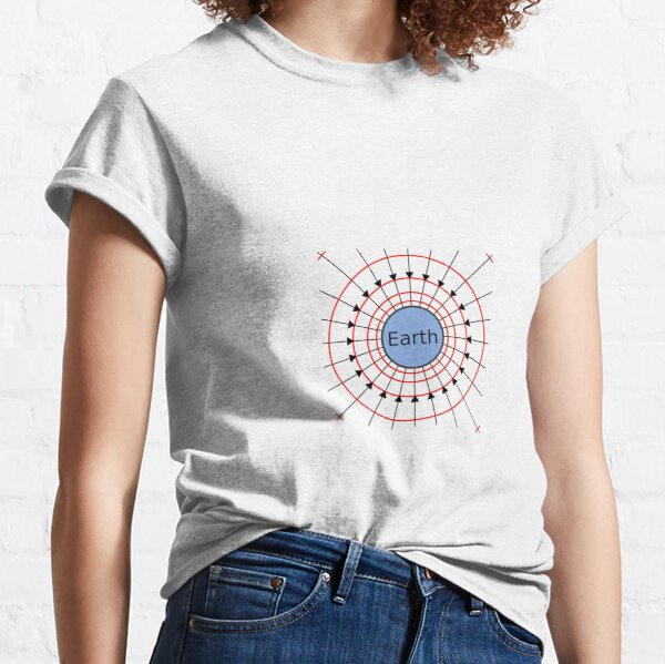 Earth, Gravitational Field Lines Classic T-Shirt