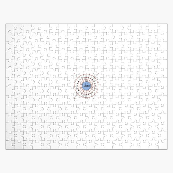 Earth, Gravitational Field Lines Jigsaw Puzzle