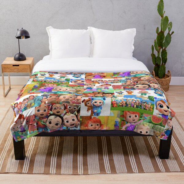 Cocomelon Collage Artwork Throw Blanket