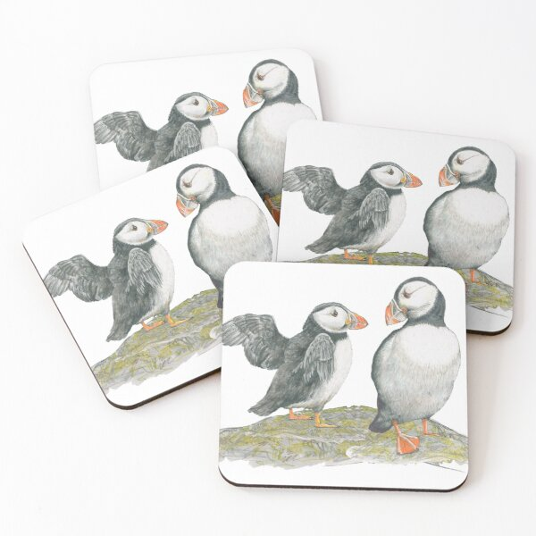 Puffins by Mary Fleeson Coasters (Set of 4)