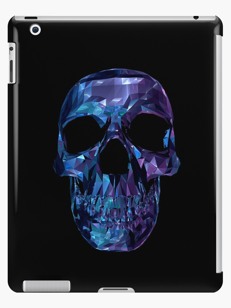 Polygon Skull - Blue / Purple by Matthew Reilly