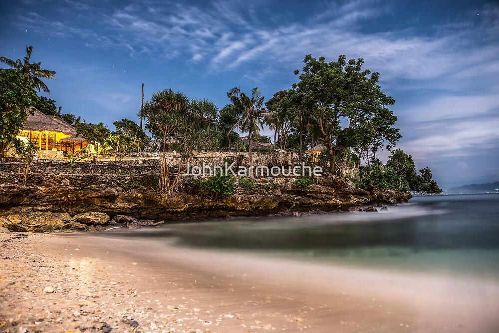 Moonlit Beach beneath the Super Moon by JohnKarmouche