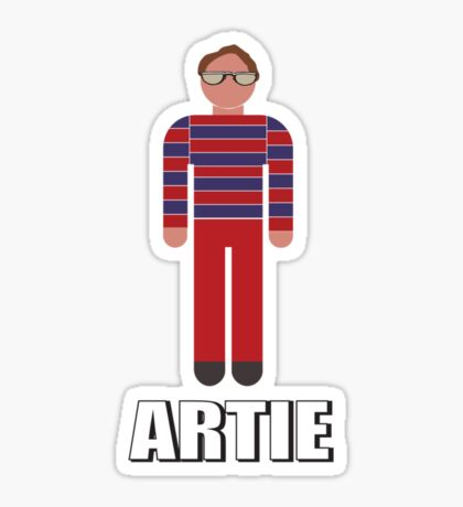 It's Artie… the strongest man…. in the world. Sticker