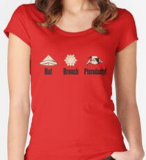 Airplane! origami Women's Fitted Scoop T-Shirt