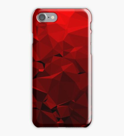 Geometric Red iPhone Case/Skin