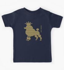King poodle - Königspudel - dog, crown, cute, funny Kids Tee