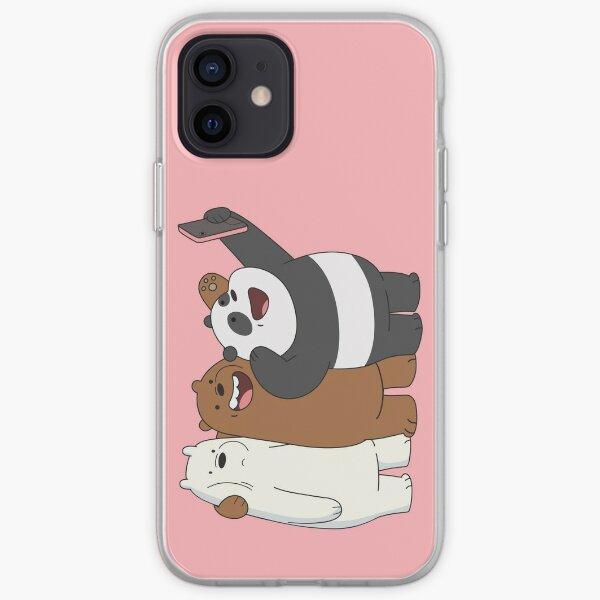 Panda und Eisbär von We Bare Bears ™. iPhone Flexible Hülle